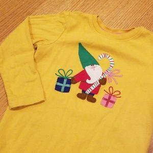 Hanna Andersson Christmas Holiday Gnome Shirt
